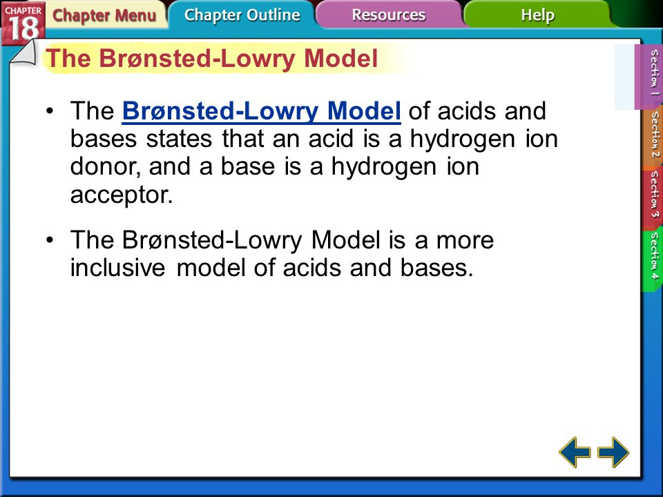 The Brønsted-Lowry Model