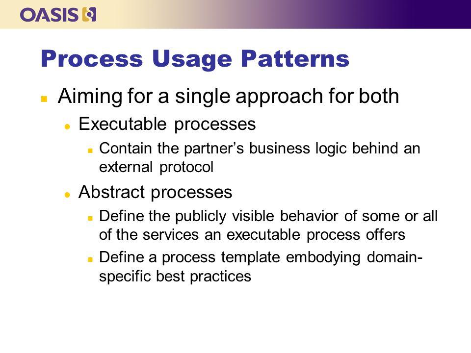 Process Usage Patterns