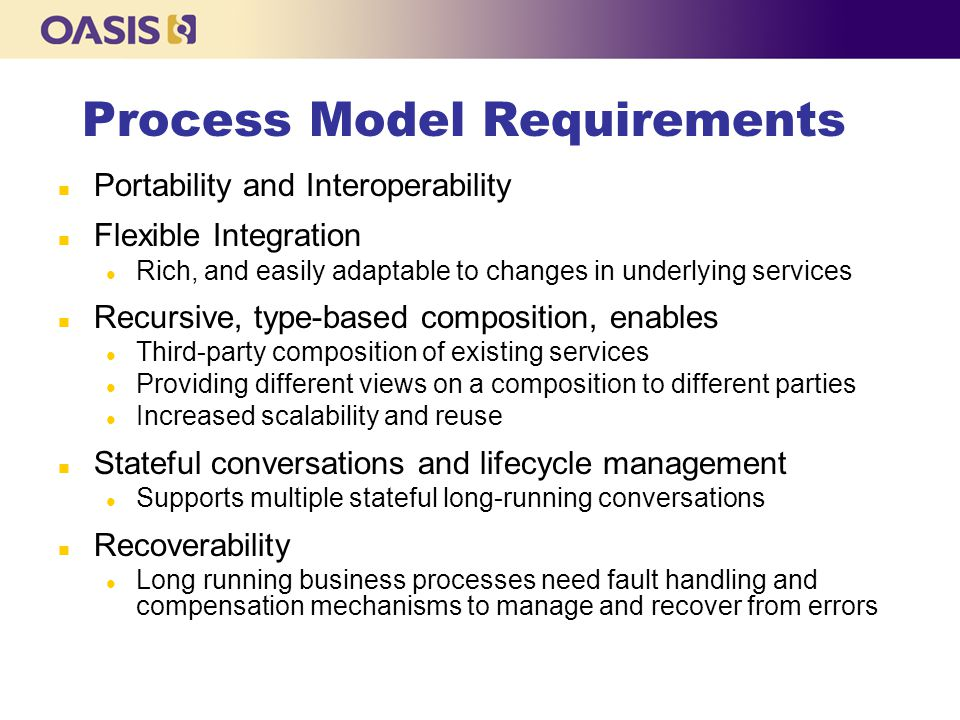 Process Model Requirements