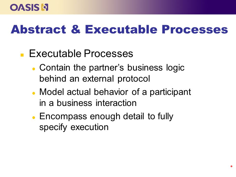 Abstract & Executable Processes