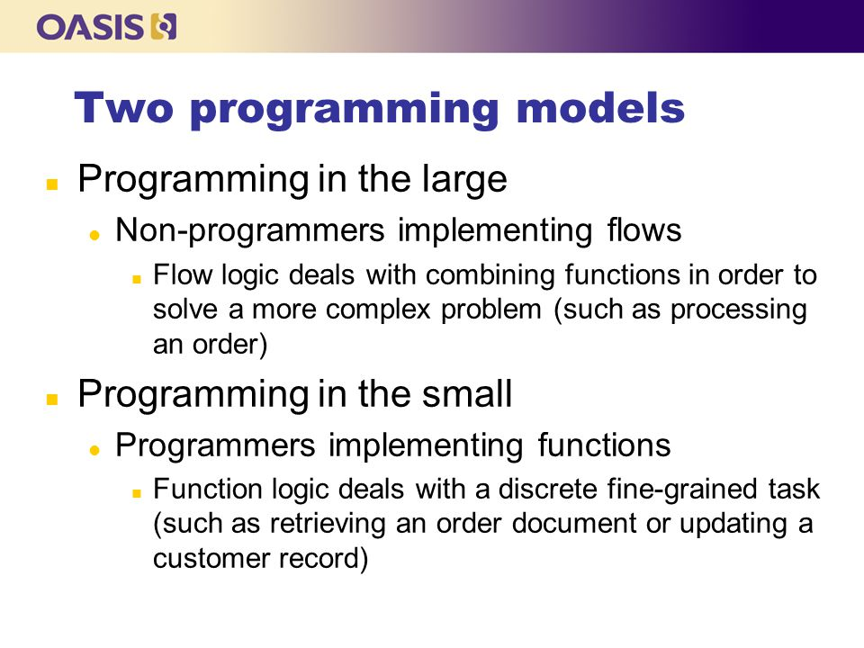 Two programming models