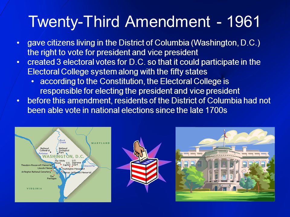 Twenty-Third Amendment - 1961