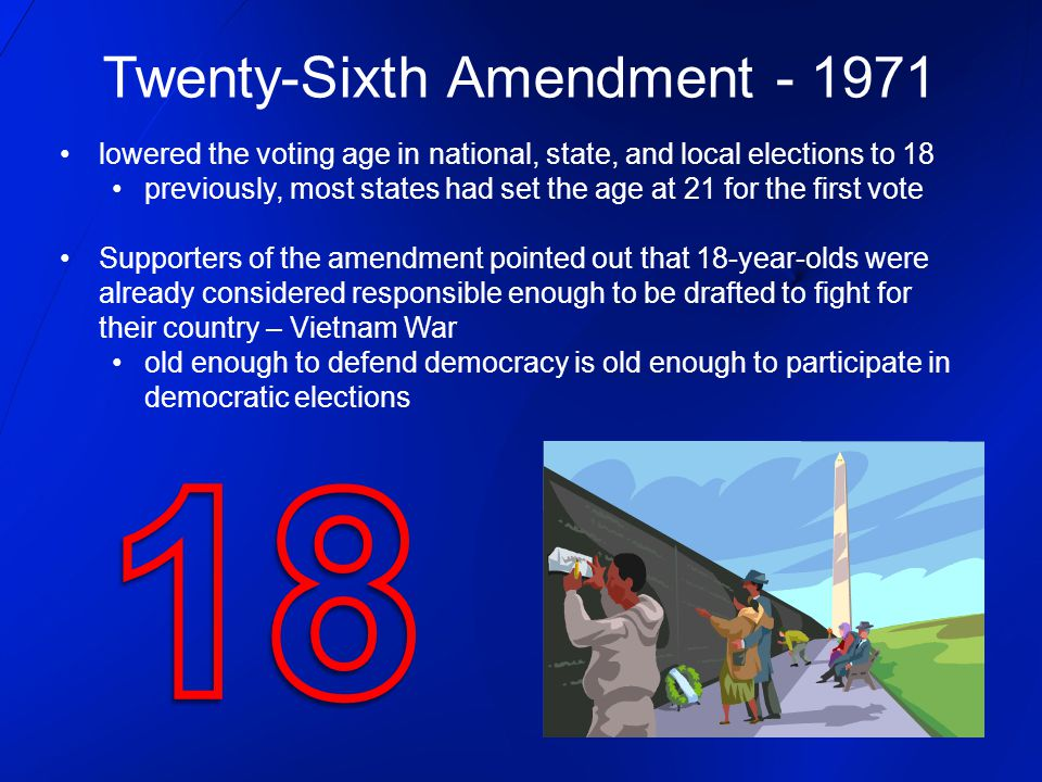 Twenty-Sixth Amendment - 1971
