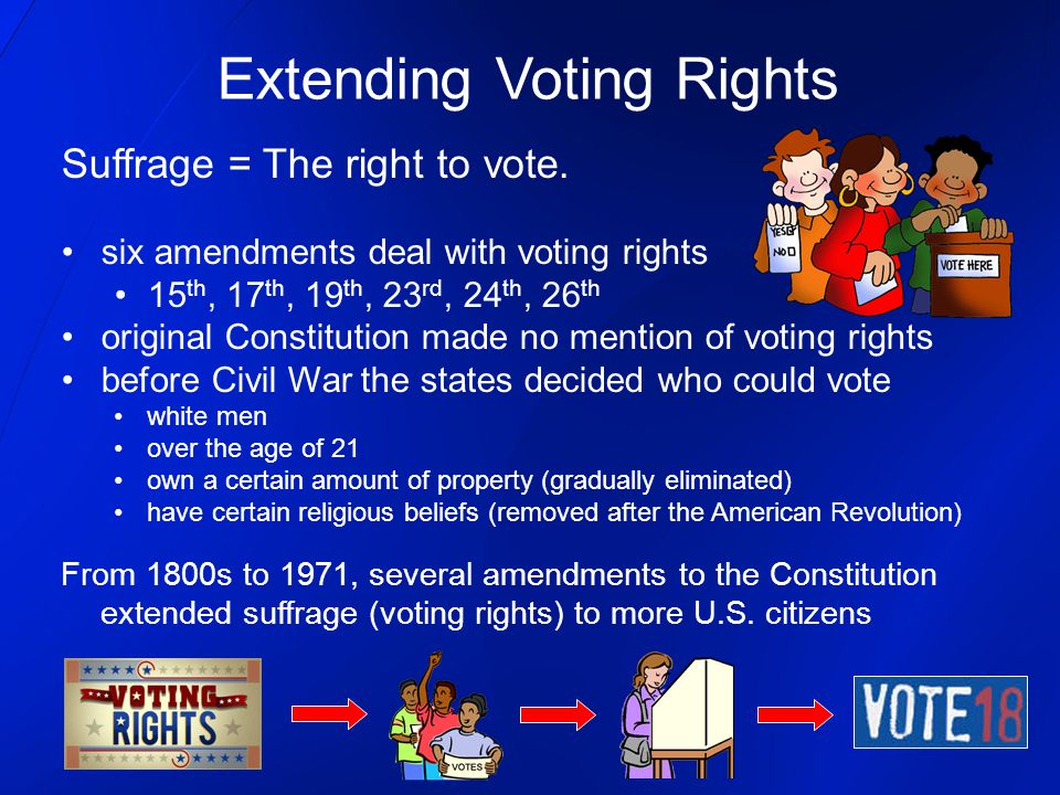 Extending Voting Rights