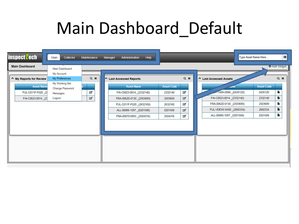 Main Dashboard_Default