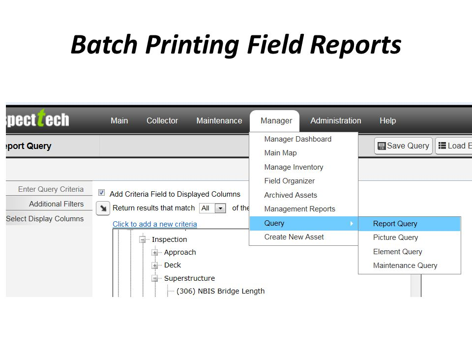 Batch Printing Field Reports