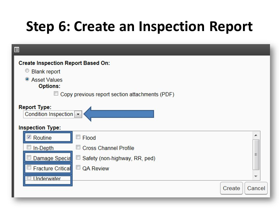 Step 6: Create an Inspection Report
