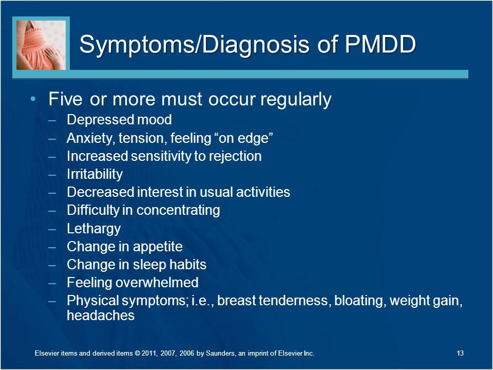 Symptoms/Diagnosis of PMDD