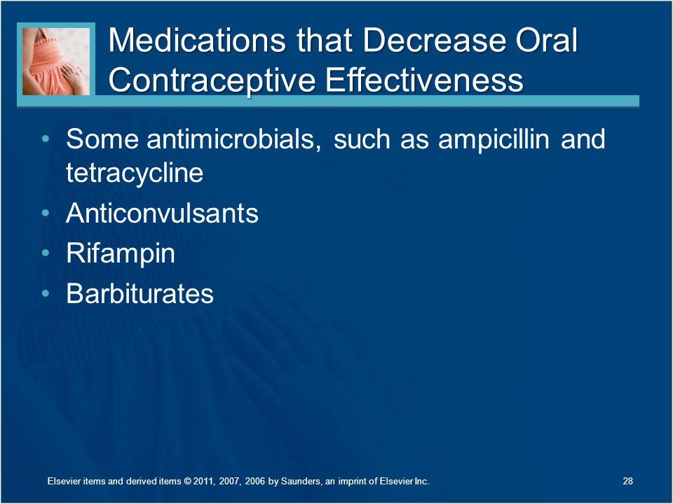 Medications that Decrease Oral Contraceptive Effectiveness