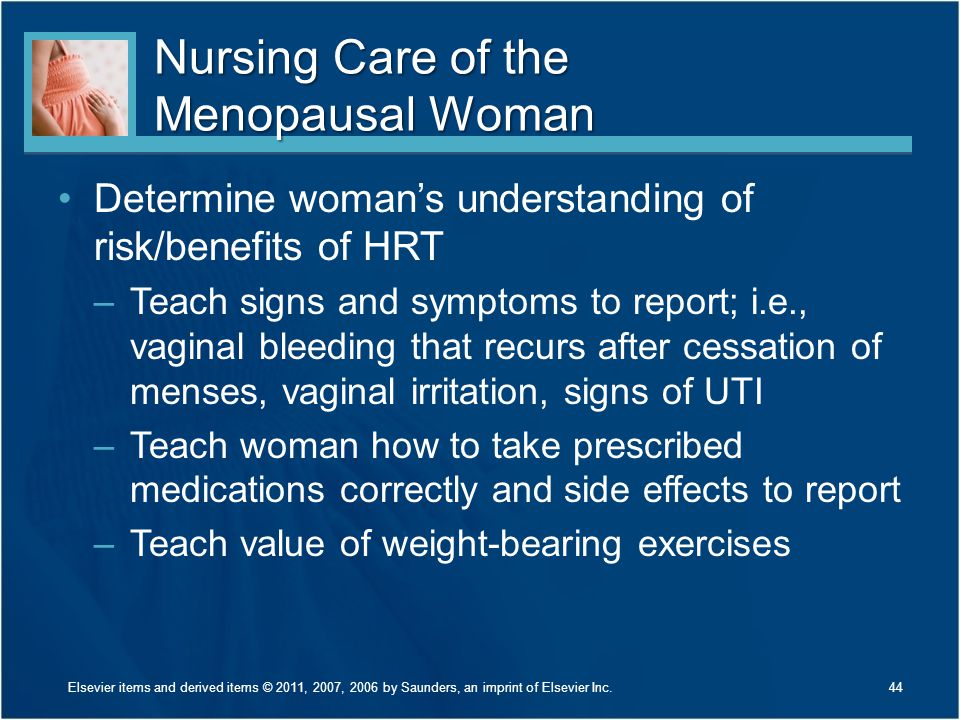 Nursing Care of the Menopausal Woman