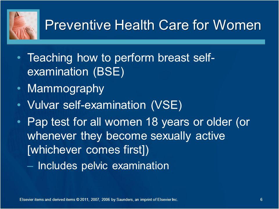 Preventive Health Care for Women