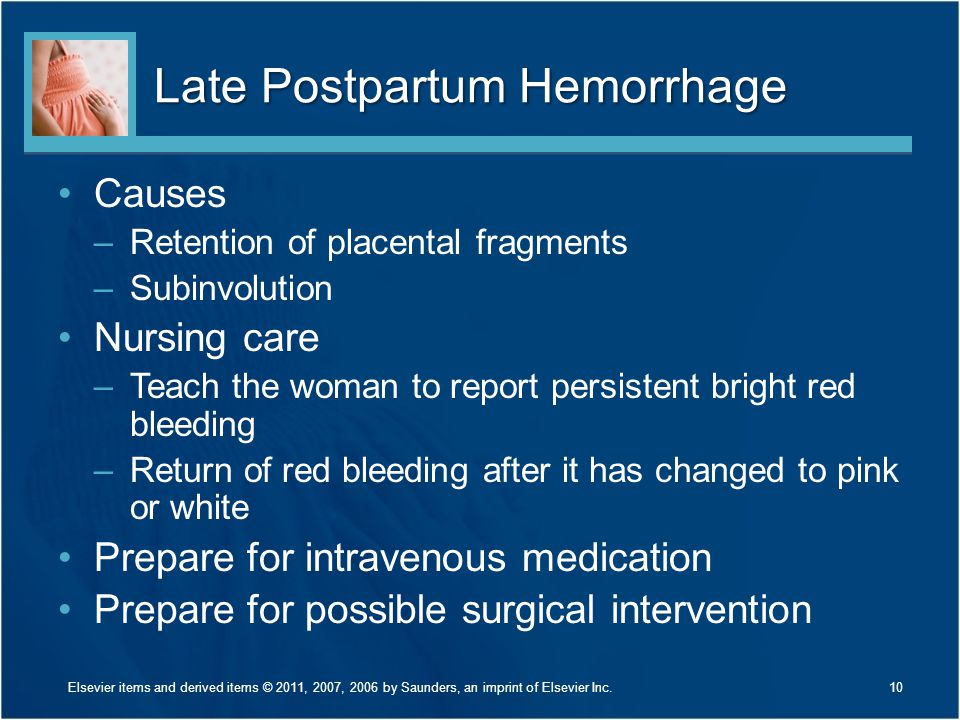 Late Postpartum Hemorrhage