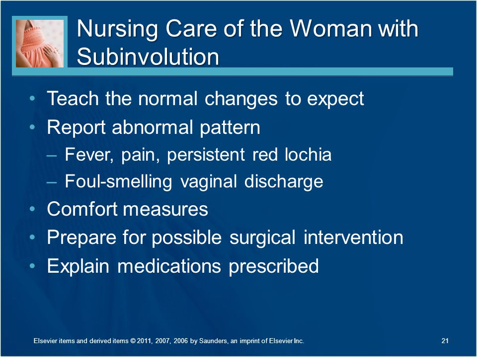 Nursing Care of the Woman with Subinvolution