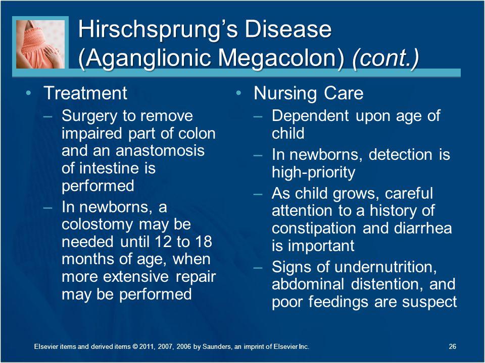 Hirschsprung's Disease (Aganglionic Megacolon) (cont.)