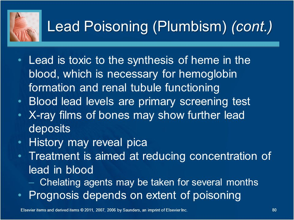 Lead Poisoning (Plumbism) (cont.)