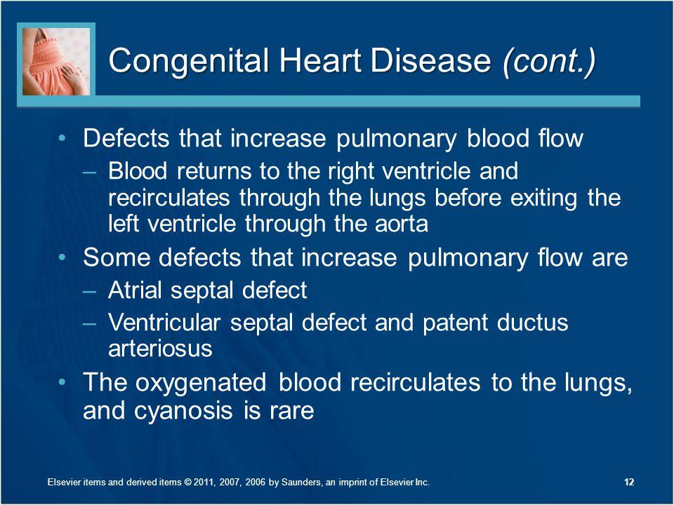 Congenital Heart Disease (cont.)
