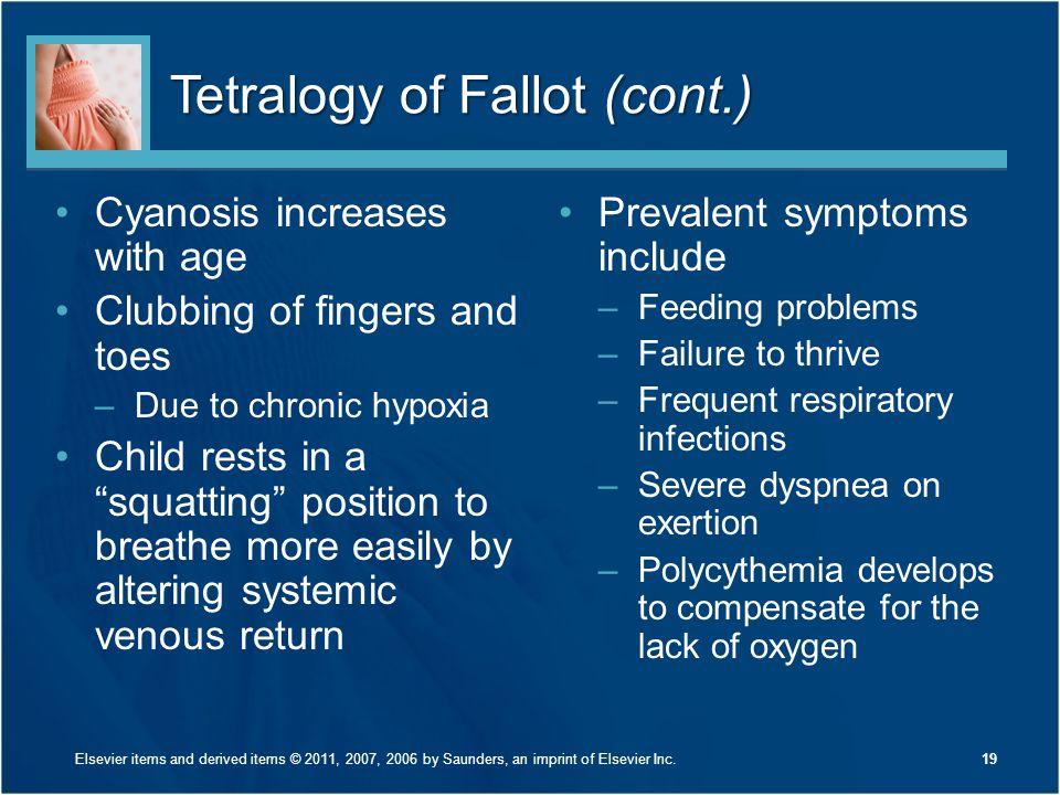 Tetralogy of Fallot (cont.)