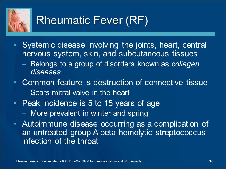 Rheumatic Fever (RF) Systemic disease involving the joints, heart, central nervous system, skin, and subcutaneous tissues.
