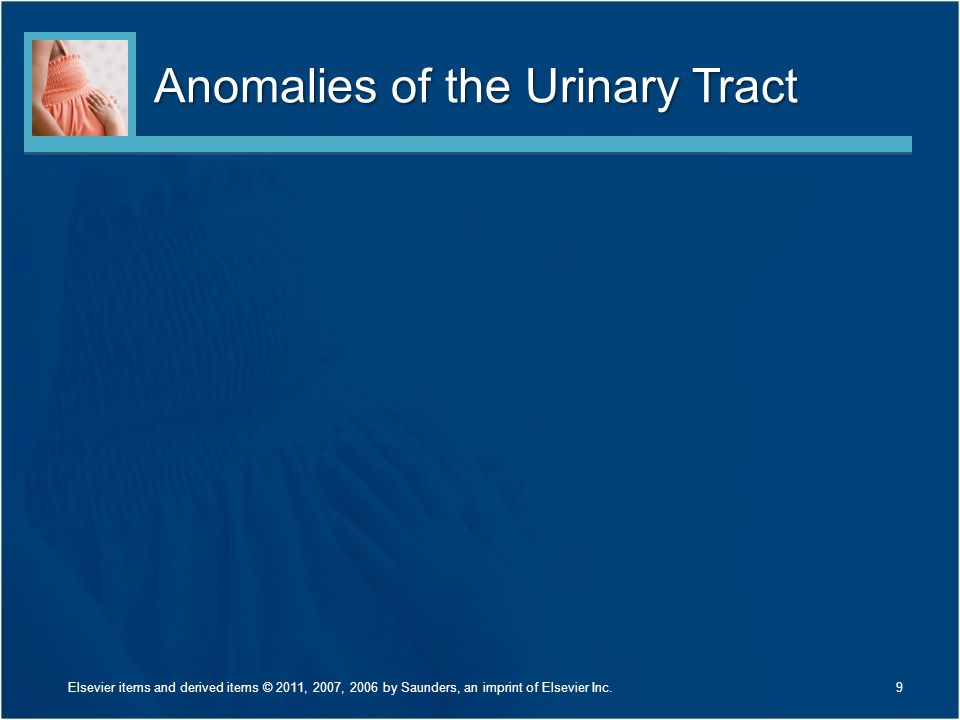 Anomalies of the Urinary Tract