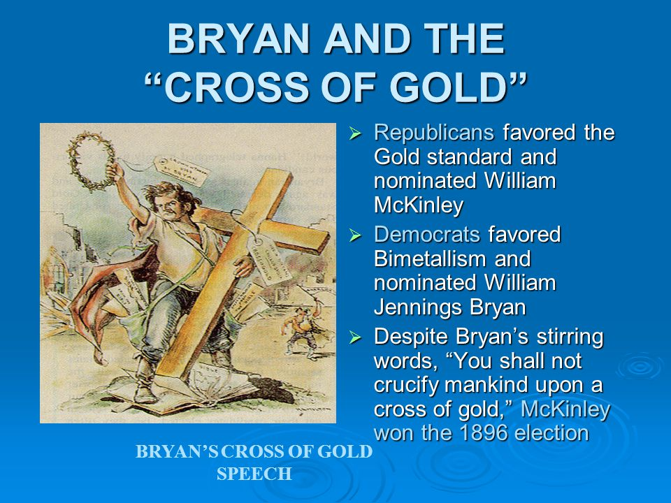 BRYAN AND THE CROSS OF GOLD