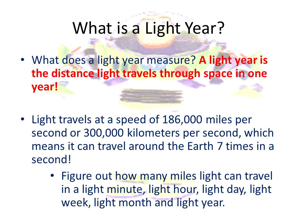 What is a Light Year What does a light year measure A light year is the distance light travels through space in one year!