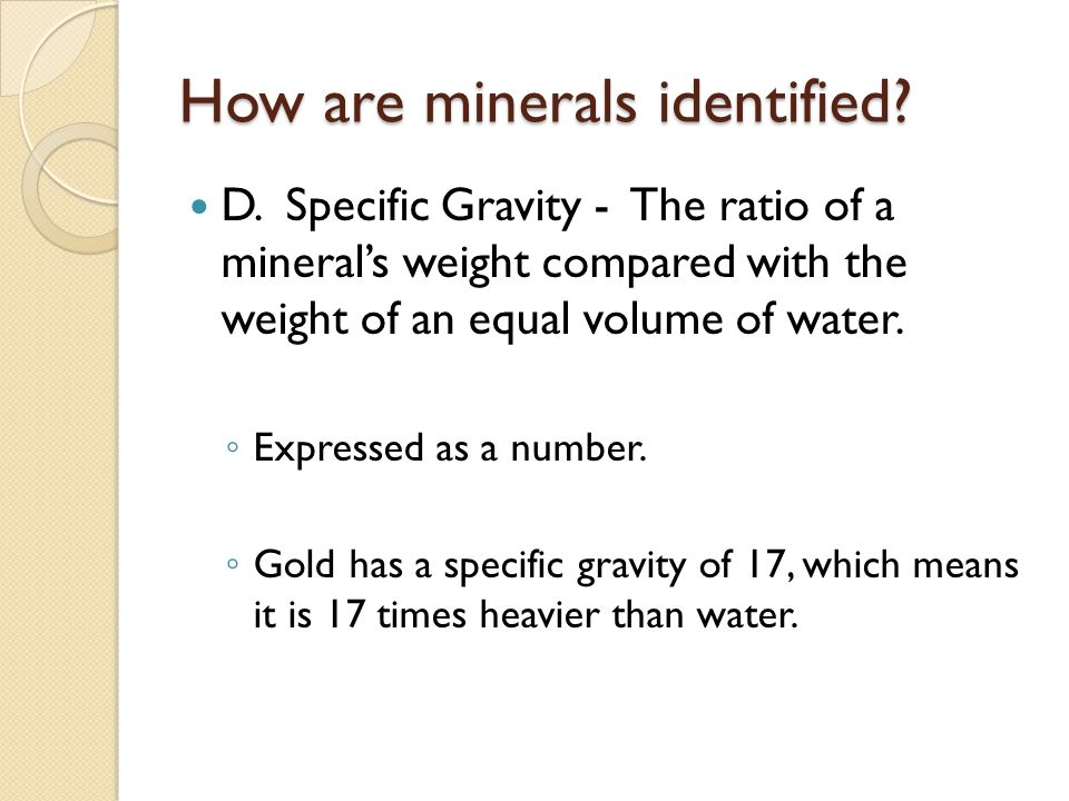 How are minerals identified