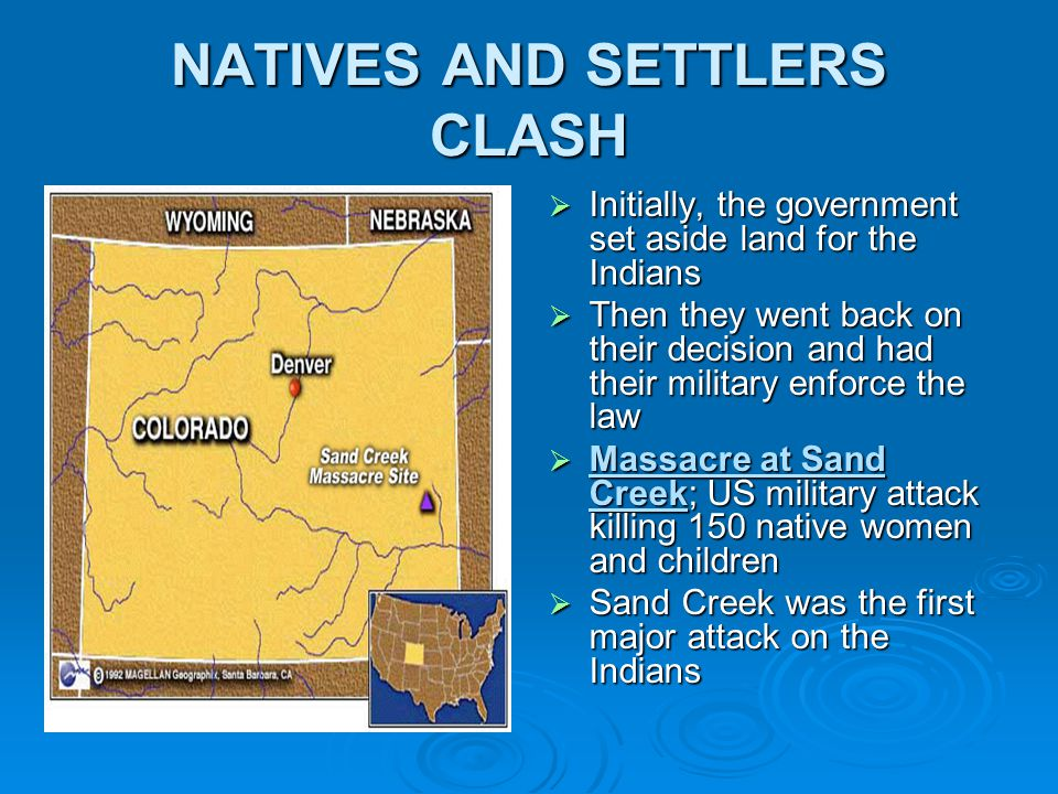 NATIVES AND SETTLERS CLASH