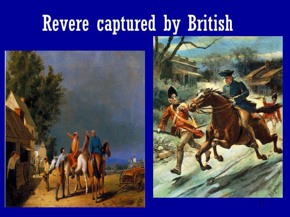 Revere captured by British