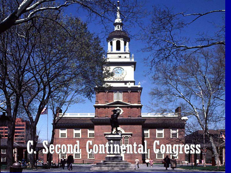 C. Second Continental Congress