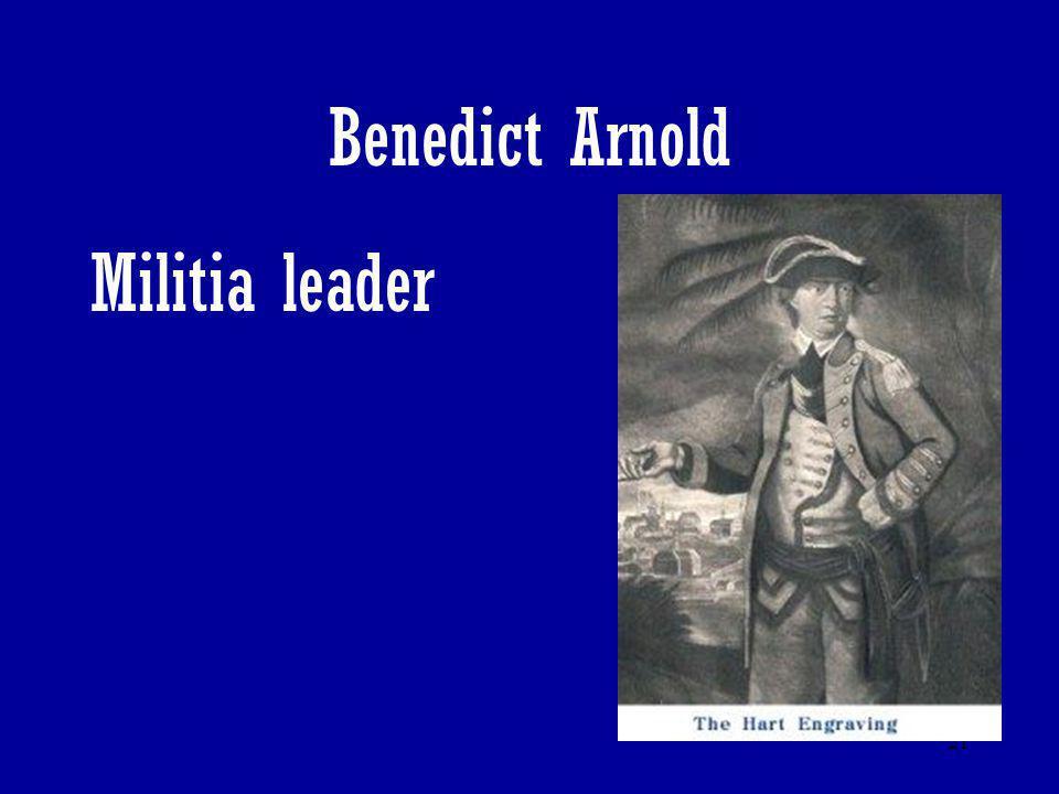 Benedict Arnold Militia leader