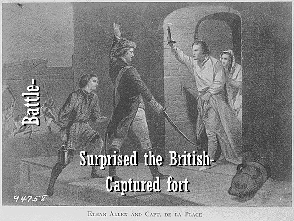 Surprised the British-