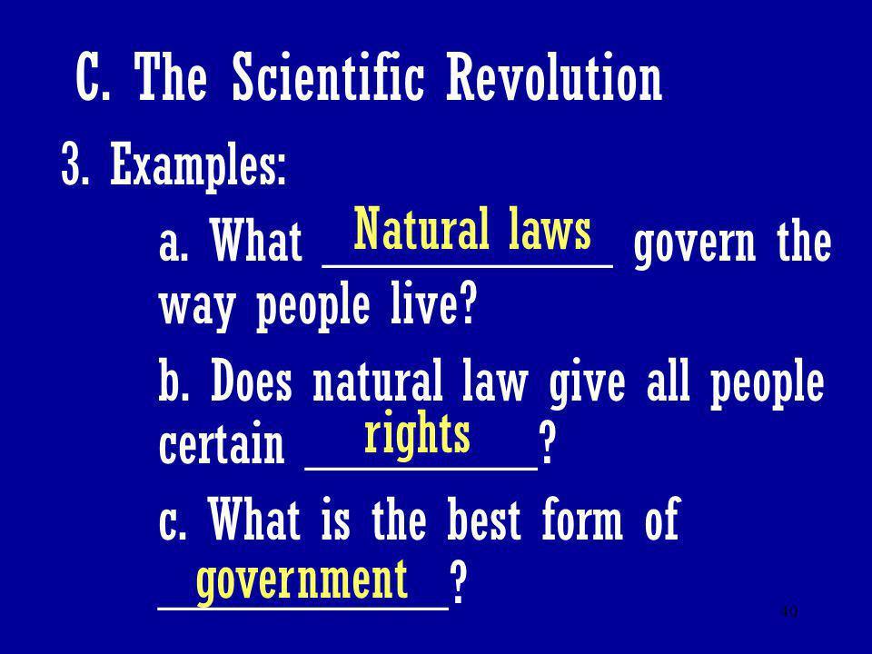 C. The Scientific Revolution