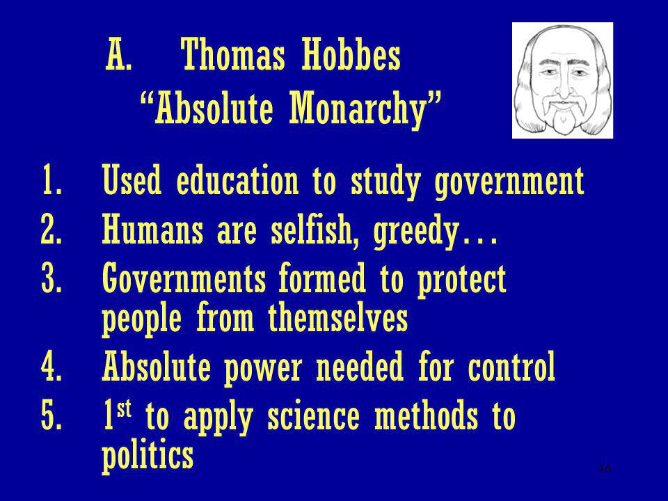Thomas Hobbes Absolute Monarchy