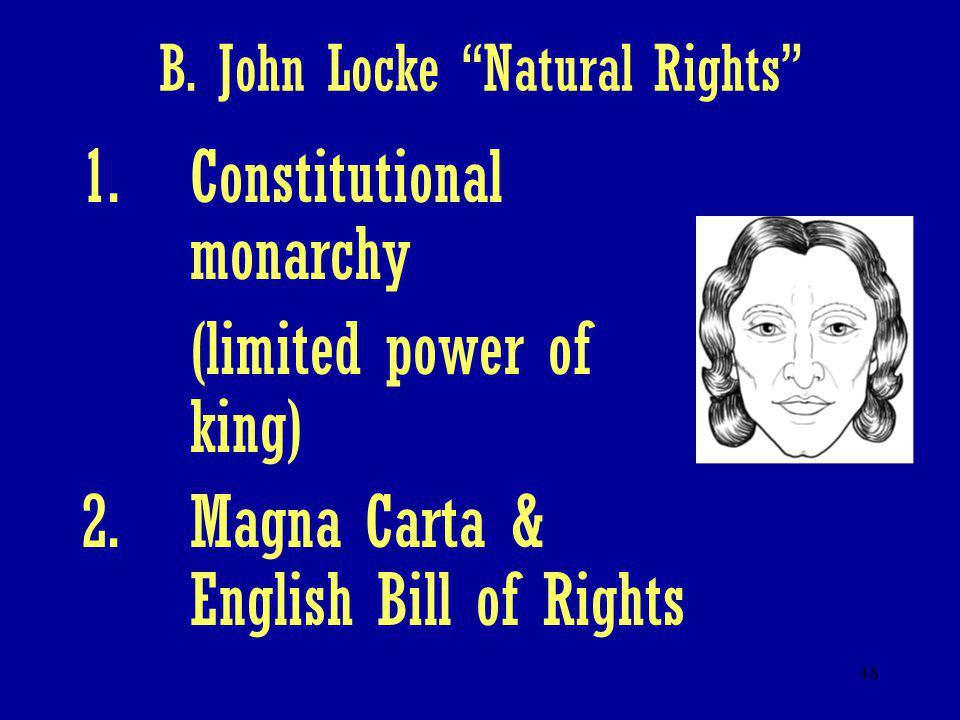 B. John Locke Natural Rights