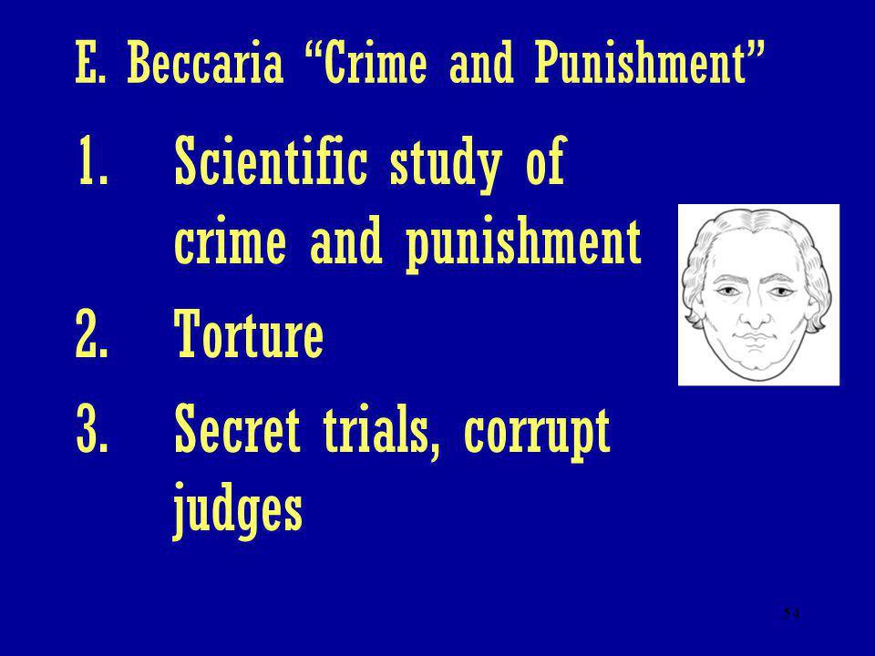 E. Beccaria Crime and Punishment
