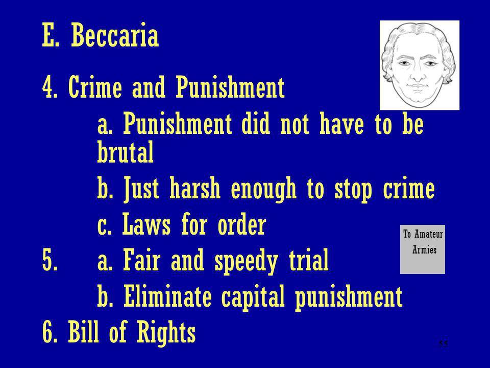 E. Beccaria 4. Crime and Punishment