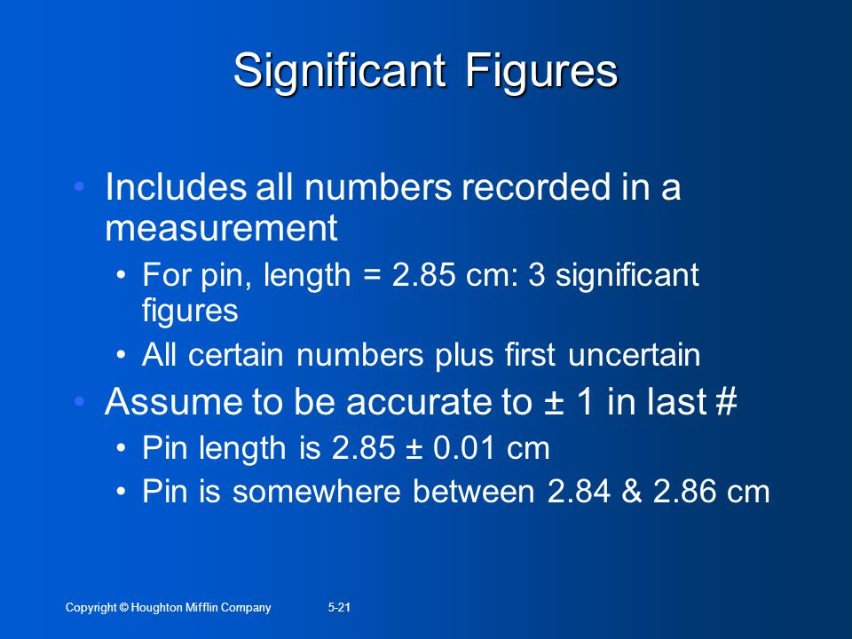 Significant Figures Includes all numbers recorded in a measurement
