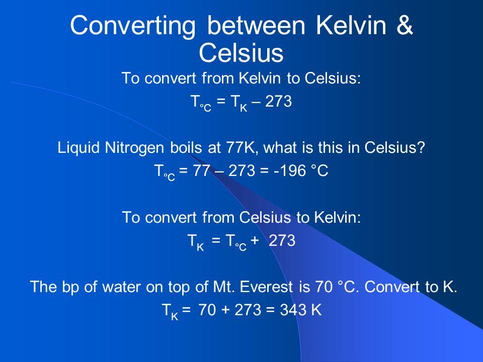 Converting between Kelvin & Celsius