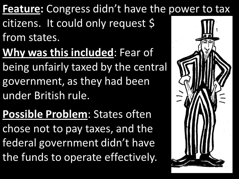 Feature: Congress didn't have the power to tax