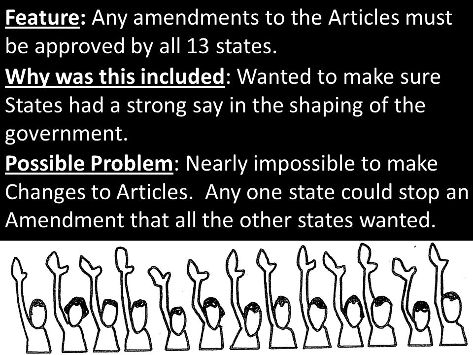 Feature: Any amendments to the Articles must