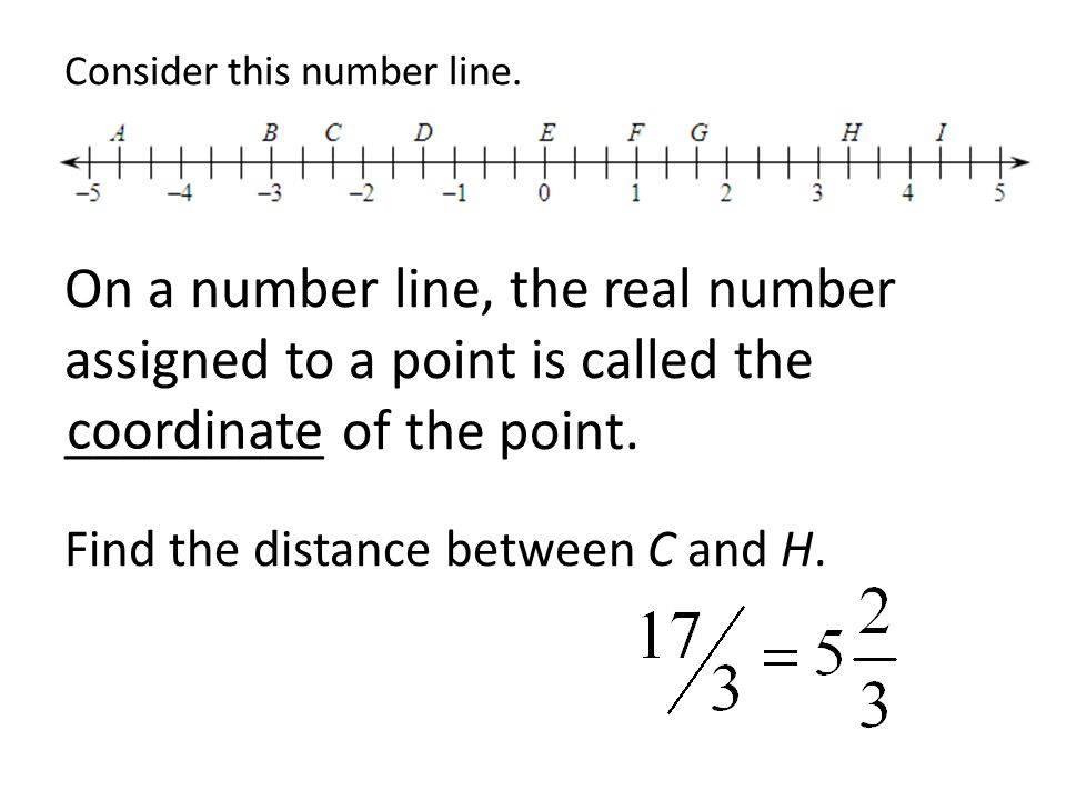 Consider this number line