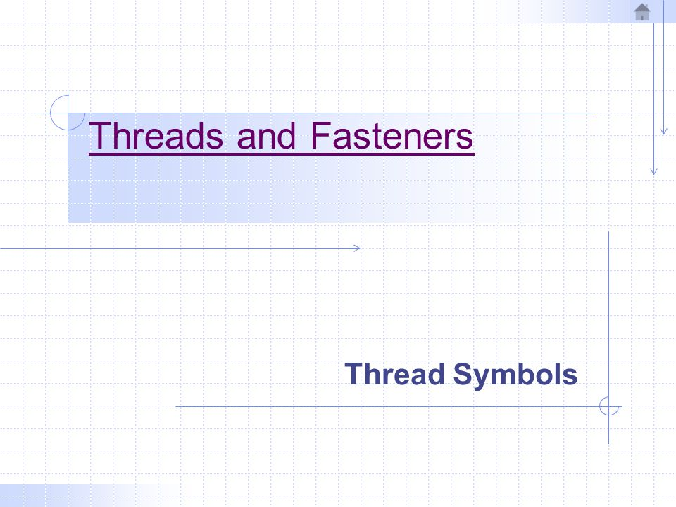 Threads and Fasteners Thread Symbols