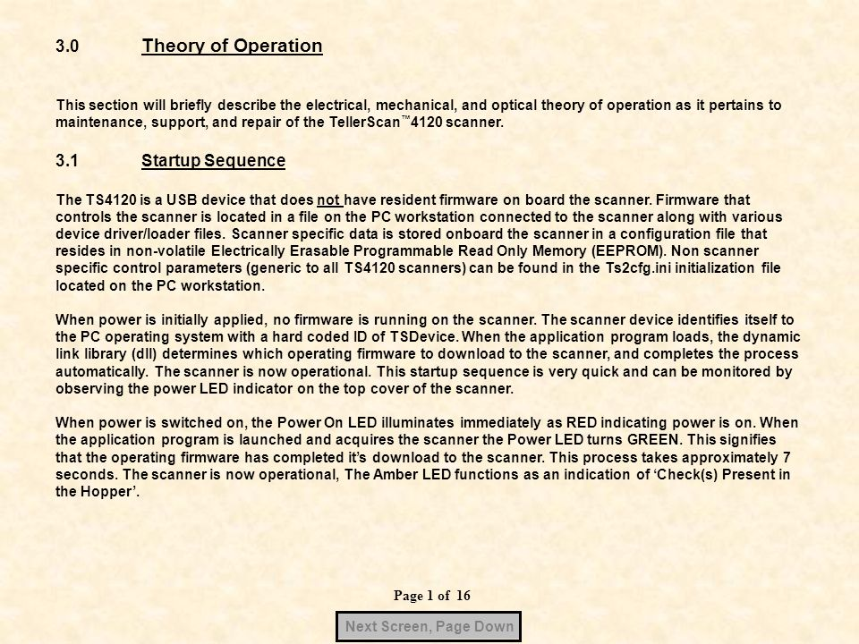 3.0 Theory of Operation 3.1 Startup Sequence