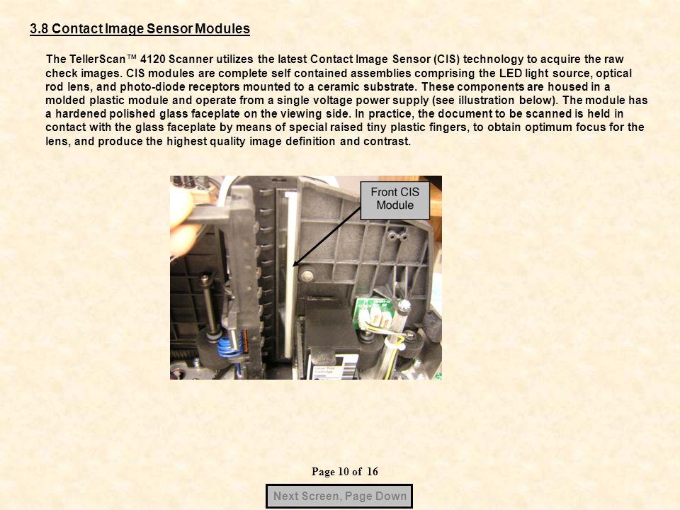 3.8 Contact Image Sensor Modules