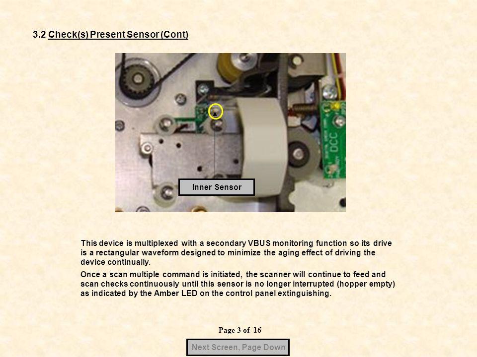 3.2 Check(s) Present Sensor (Cont)