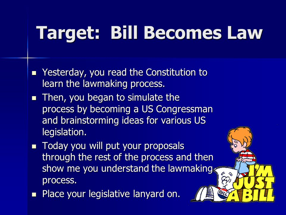 Target: Bill Becomes Law