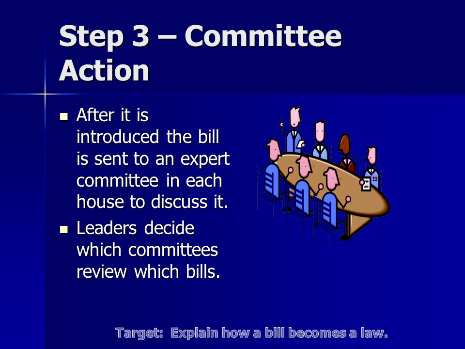 Step 3 – Committee Action