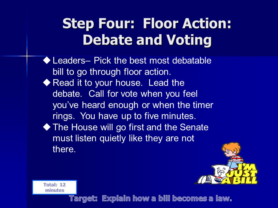 Step Four: Floor Action: Debate and Voting