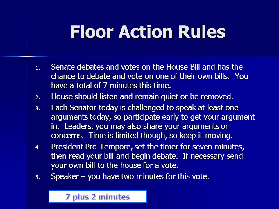 Floor Action Rules