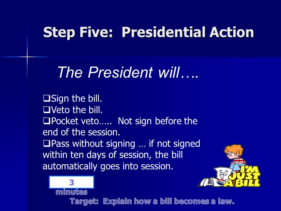 Step Five: Presidential Action